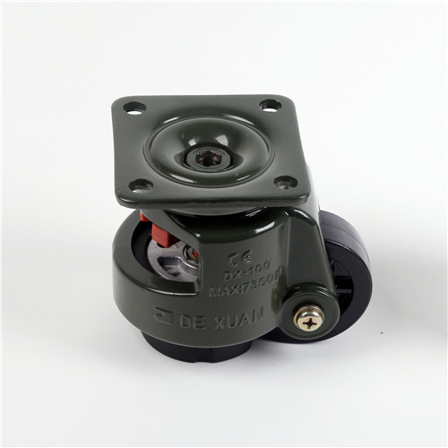 Army green level adjustment casters